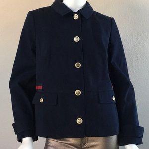 TALBOTS Military Style Navy Blue Jacket.